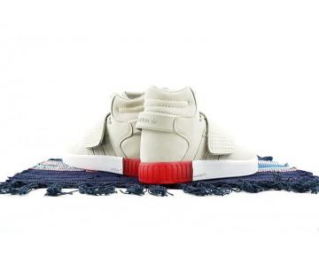 Schuhe Unisex Adidas Tubular Invader Strap Bb5035 Rice Weiß & Rot