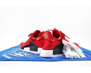 Unisex Rot Schuhe Pharrell Williams X Adidas Originals Nmd Human Race Bb0616