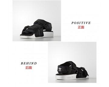 Unisex Schwarz & Weiß Adidas Adilette Sandal W S75382 Schuhe