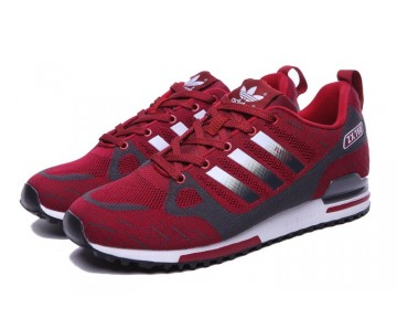 Schuhe Adidas ZX 750 Flyknit 40-45 Wine Rot & Grau Herren