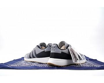Herren Adidas Originals Flashback Breathable Sneakers S78623 Schuhe Grau & Schwarz & Weiß