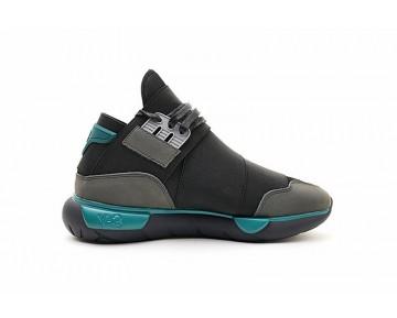 Y-3 Qasa High Bb4735 Schuhe Unisex Schwarz & Grau & Blau