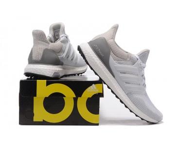 Schuhe Adidas Ultra Boost Weiß & Licht Grau Unisex