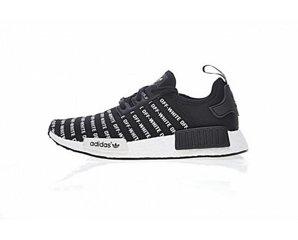 Off-Weiß X Adidas Nmd R_1 Boost Ba7521 Schwarz & Weiß Unisex Schuhe