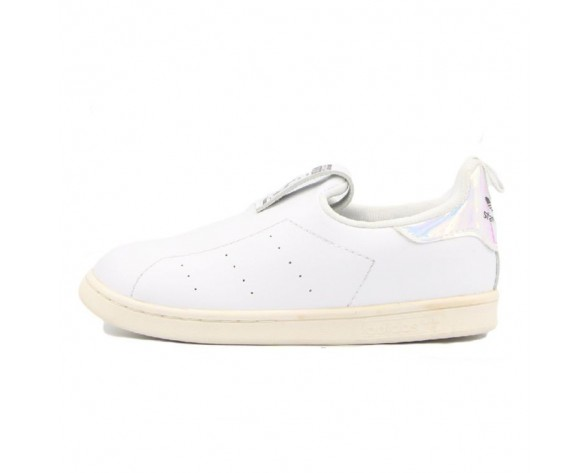 Schuhe Weiß Colours Adidas Stan Smith Slip On Kid Aq6274 Unisex