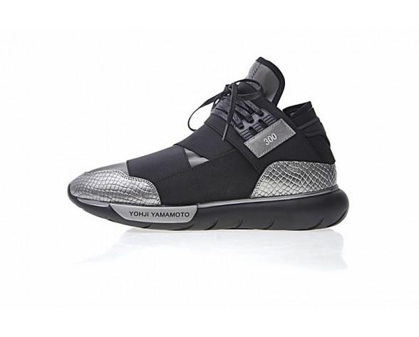 Schwarz & Grau & Snake Unisex Schuhe Y-3 Qasa High Bb471