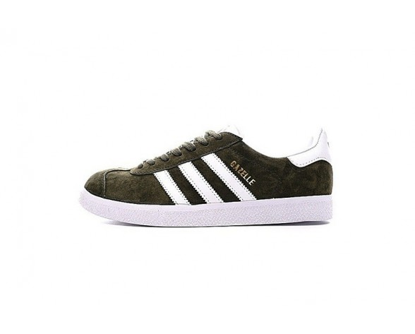 Schuhe Olive Grün & Weiß Adidas Originals Gazelle Bb5490 Unisex