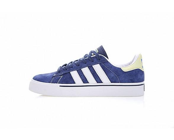 Adidas Skateboarding Campus Vulc G48532 Schuhe Ink Blau & Weiß & Gelb Herren