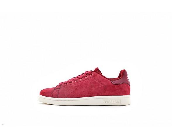 Burgund Rot & Weiß Adidas Originals Stan Smith S80028 Schuhe Unisex