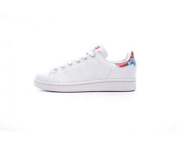 Unisex Schuhe Weiß/Power Rot Adidas Stan Smith W Bb5157