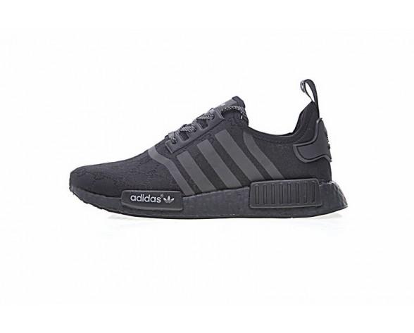 Schuhe Cucci X Adidas Nmd R_1 Boost Logo Ba7522 Schwarz Unisex