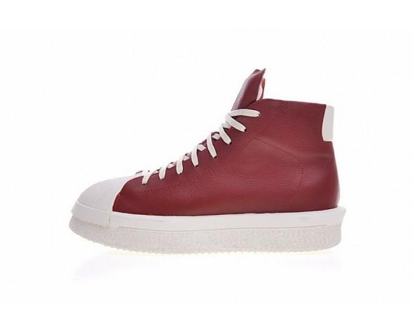 Schuhe Burgund Rot & Rice Weiß Unisex Adidas X Rick Owens Mastodon Pro M22451