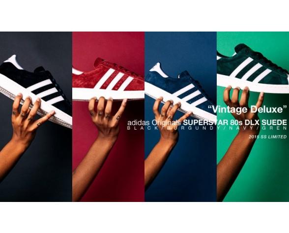 Adidas Originals Superstar 80S B35988 Schuhe Tief Blau Unisex