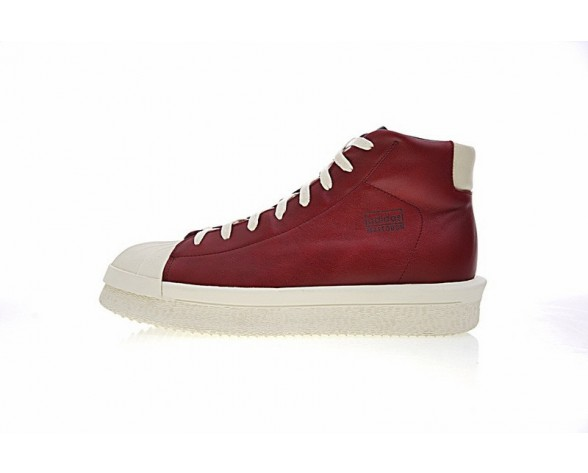 Schuhe Rick Owens X Adidas Mastodon Pro Model Ii M22451 Unisex Wine Rot & Rice Weiß