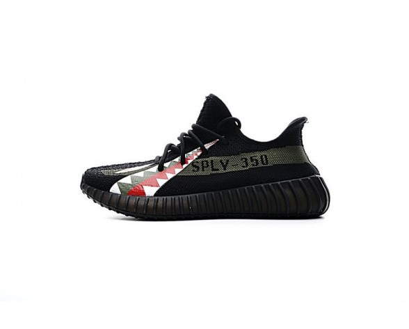 Unisex Schuhe Shark Teeth & Schwarz Adidas Yeezy 350V2 Boost