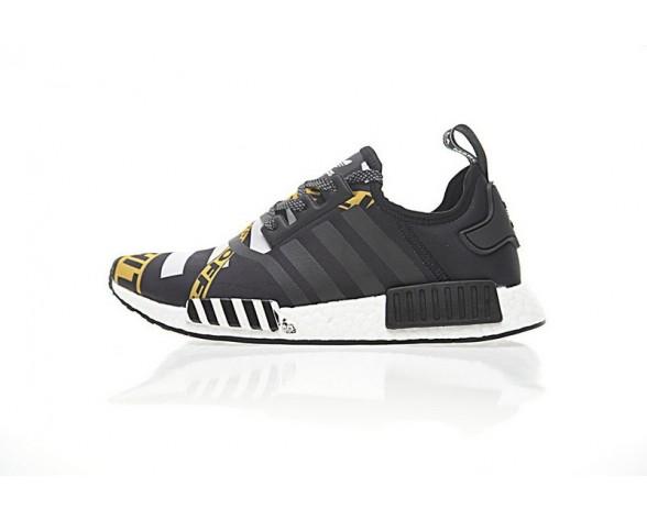 Schuhe Off-Weiß X Adidas Nmd R_1 Boost Ba7528 Grau & Schwarz Unisex