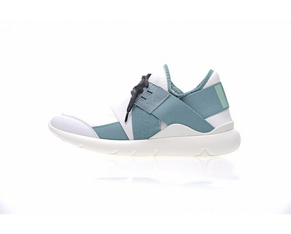 Schuhe Weiß & Lake Blau Y-3 Qasa Elle Lace 17Ss Unisex