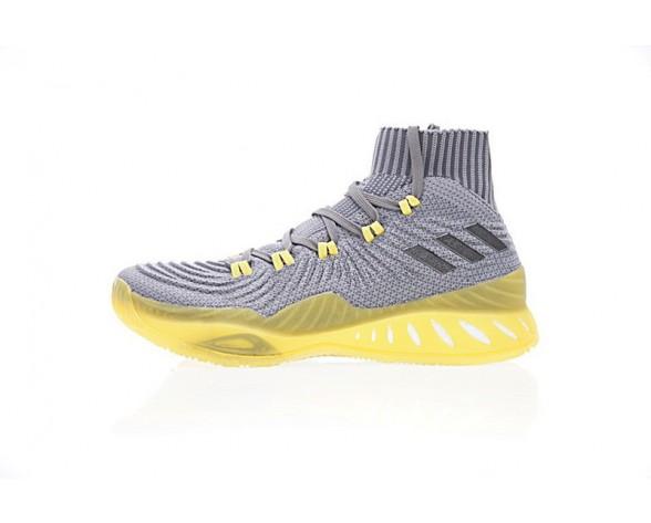 Licht Grau & Gelb Unisex Schuhe Adidas Crazy Explosive Primeknit Cq1396