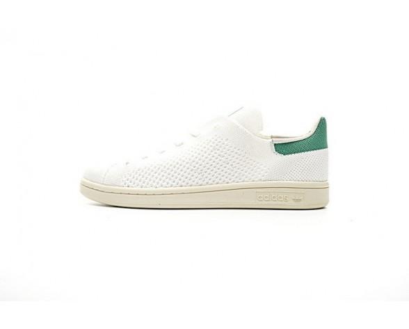 Weiß & Grün Adidas Originals Stan Smith Primeknit S75146 Schuhe Unisex