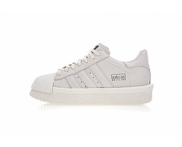 Rick Owens X Adidas Mastodon Pro Model Low Ba9763 Unisex Schuhe Weiß & Schwarz