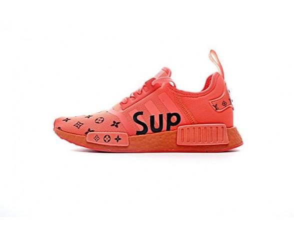 Rot & Schwarz Letter Schuhe Supreme X L.V X Adidas Nmd R1Sup S31507 Unisex