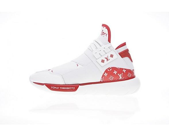 L.V X Y-3 Qasa High Unisex Weiß & Rot Schuhe