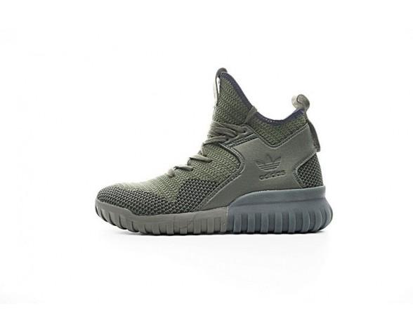 Adidas Originals Tubular X Primeknitve S76713 Olive Grün/Schwarz Schuhe Herren