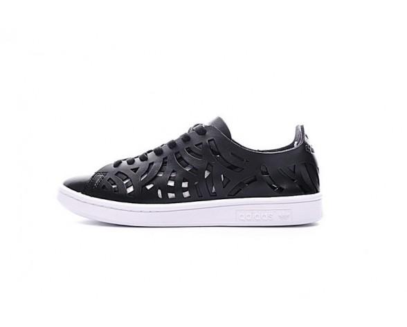 Schuhe Schwarz & Weiß Unisex Adidas Stan Smith Cutout Wlack S117032