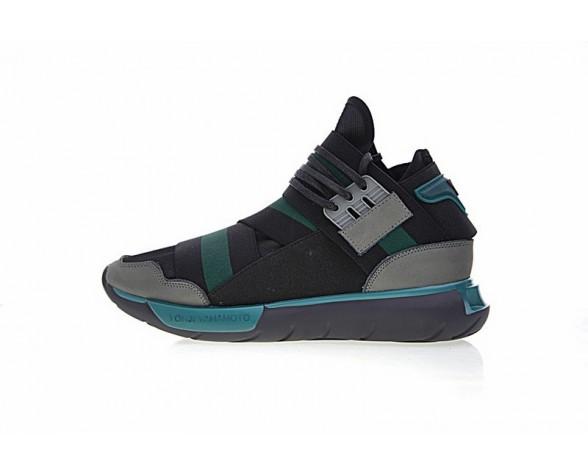 Adidas Y-3 Qasa High Cq5499 Unisex Ash Grau & Grün Schuhe