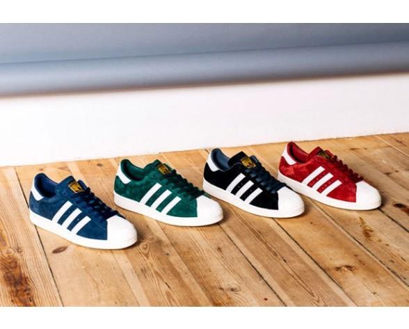 Rot Adidas Originals Superstar 80S Deluxe B25962 Schuhe Unisex