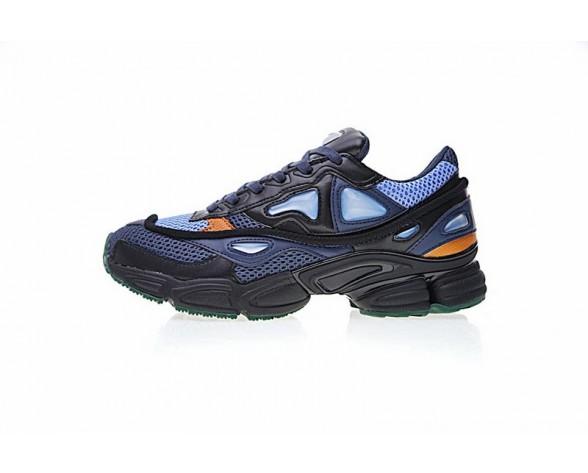 Unisex Raf Simons X Adidas Consortium Ozweego 2 By9866 Midnight Marine & Schwarz & Orange Schuhe