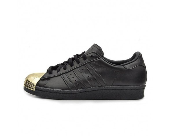 Schuhe Unisex Adidas Originals Superstar 80S Metal Toe D67591 Schwarz/Gold