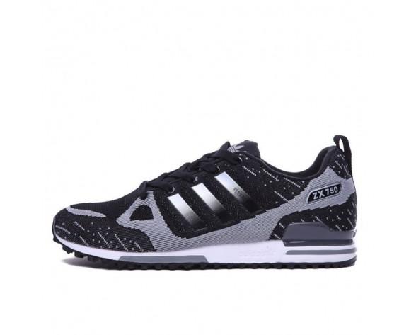 Schuhe Adidas ZX 750 Flyknit 40-45 Herren Schwarz & Grau & Weiß