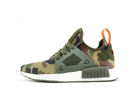 Schuhe Adidas Originals Nmd Primeknit Xr1 Ba7232 Army Grün & Camo Unisex
