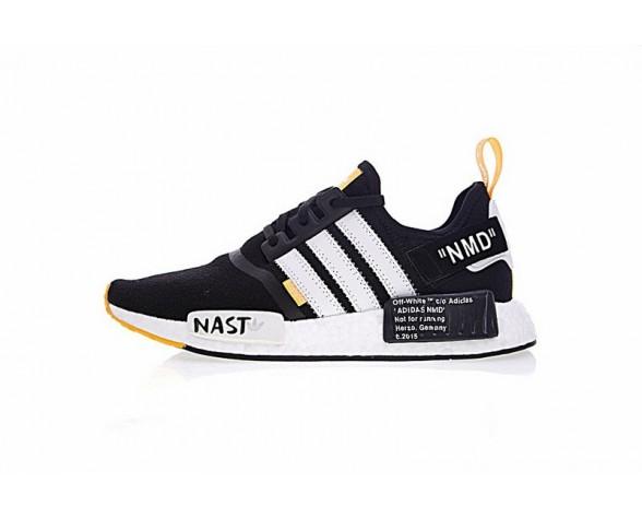 Schwarz & Weiß & Orange Schuhe Unisex Virgil Abloh X Adidas Nmd R1 Boost W Ba8860
