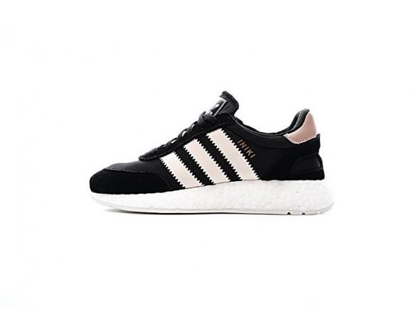 Schuhe Damen Schwarz & Powder Rosa Adidas Iniki Runner Boost