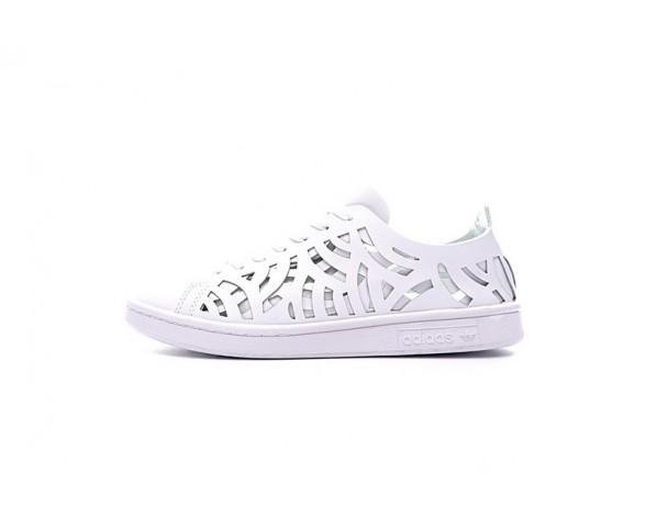 Weiß Adidas Stan Smith Cutout Bb5149 Schuhe Unisex