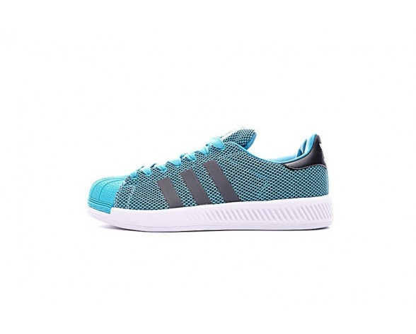 Herren Lake Blau Adidas Superstar Bounce Bz0092 Schuhe