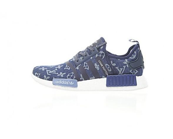 L.V X Adidas Nmd R_1 Boost Ba7262 Schuhe Herren Tief Blau