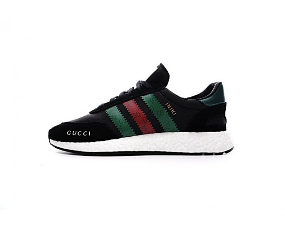 Schuhe Unisex X Adidas Iniki Runner Boost Bb2096 Schwarz & Grün & Rot