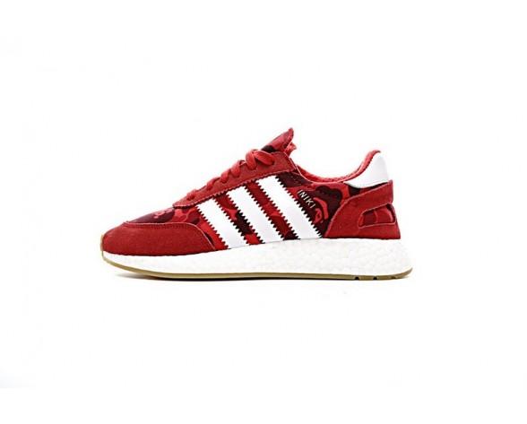 Bape X Adidas Iniki Runner Boost Bb2097 Camo Rot & Weiß Schuhe Unisex