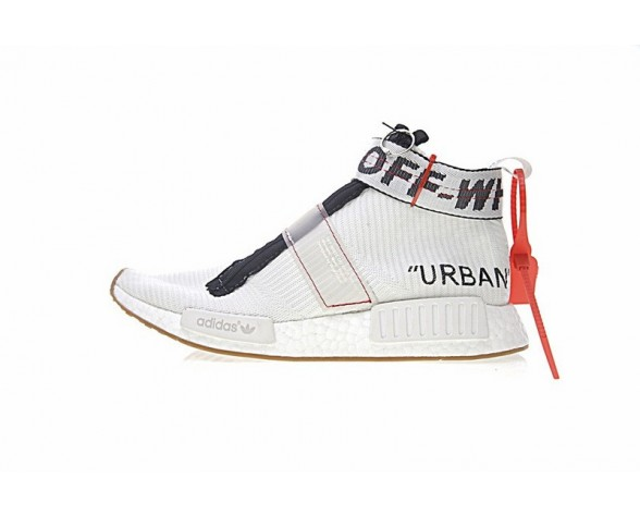 Weiß & Schwarz Unisex Off-Weiß X Adidas Originals Nmd City Sock Ba7208 Schuhe