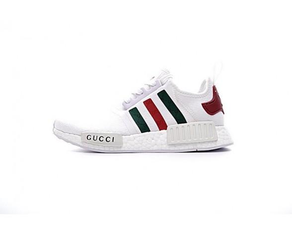 Weiß & Grün & Rot Adidas Nmd Custom S675002 Unisex Schuhe