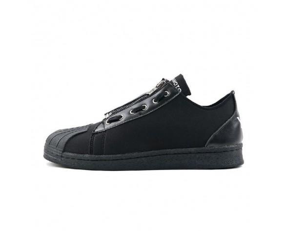 Triple Schwarz Unisex Adidas Y-3 Super Zip Superstar S82168 Schuhe