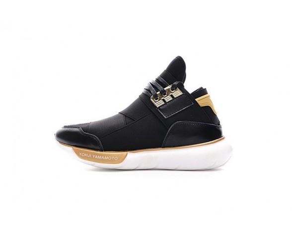 Schwarz & Gold Weiß Schuhe Unisex Y-3 Qasa High Bb4762