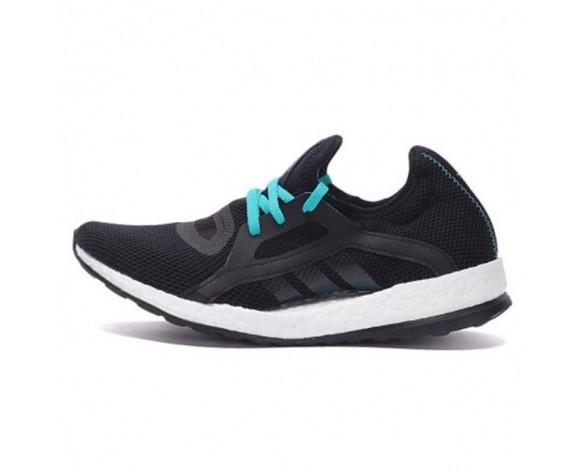Damen Adidas Pure Boost X Aq6681 Schwarz & Grün Schuhe