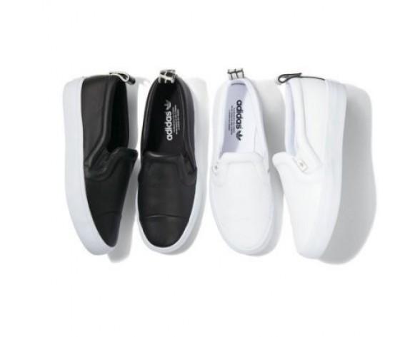 Schwarz & Weiß Adidas Originals Honey 2.0 Slip On S77424 Unisex Schuhe