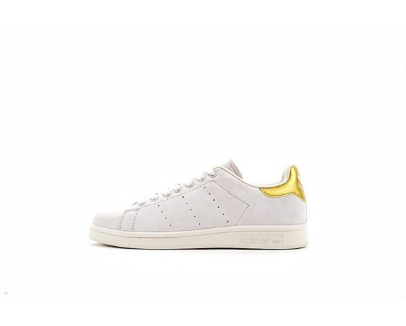 Unisex Adidas Originals Stan Smith Bb2712 Grau & Gold Schuhe