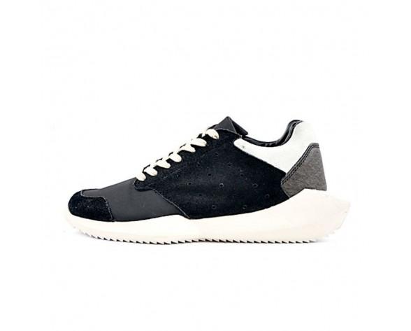 Schwarz & Weiß Adidas X Rick Owens Tech Runner B35082 Unisex Schuhe