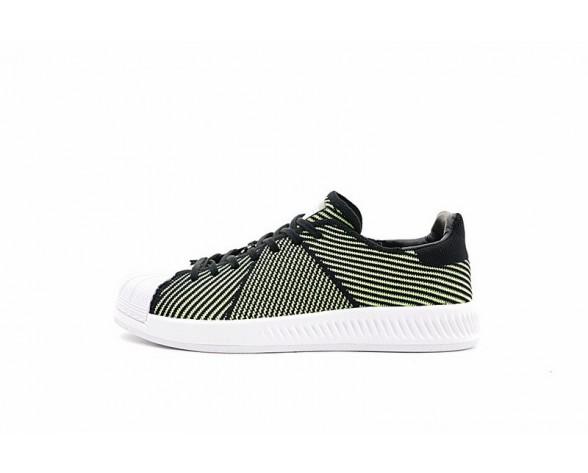 Adidas Superstar Bounce Primeknit S82246 Schuhe Fluorescent Grün & Schwarz & Weiß Unisex